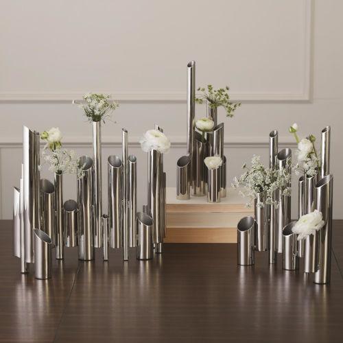 Nickel 10-Inch Multi Pipe Vase