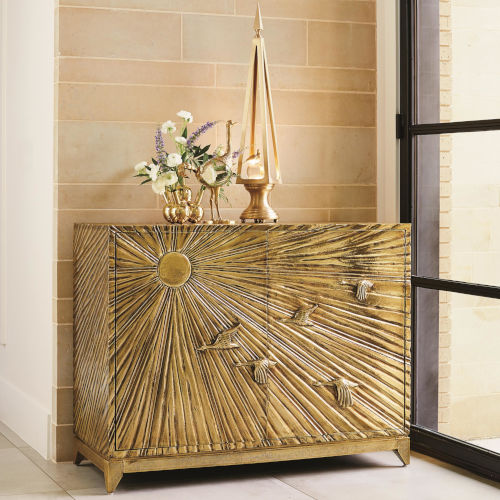 Brass 49-Inch Cabinet