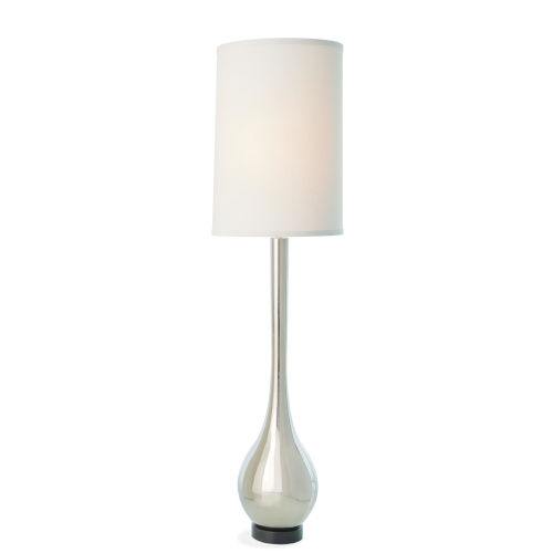 Nickel Two-Light Floor Lamp