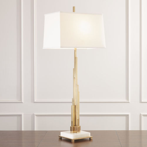 Metropolis Brass One-Light Floor Lamp
