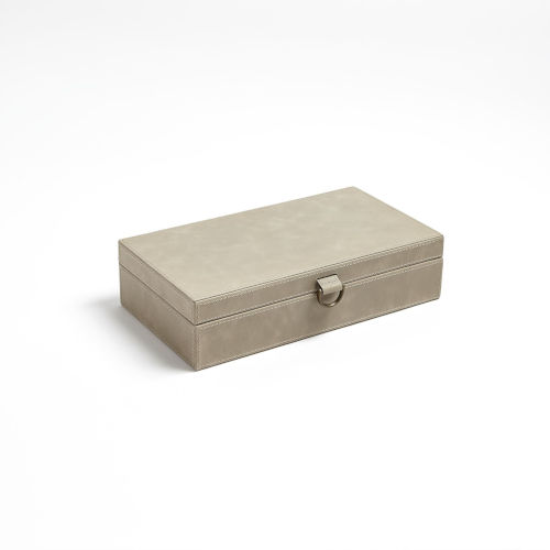 Studio A Home Light Gray Medium Marbled Leather D Ring Box