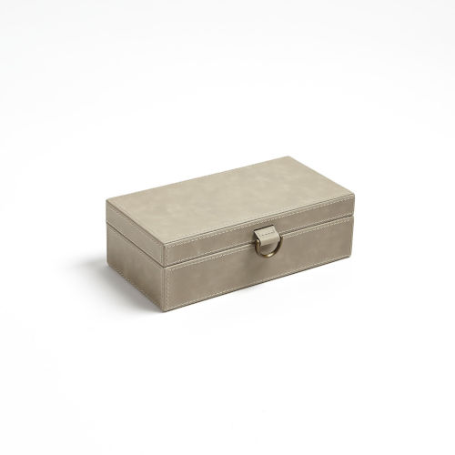 Studio A Home Light Gray Small Marbled Leather D Ring Box