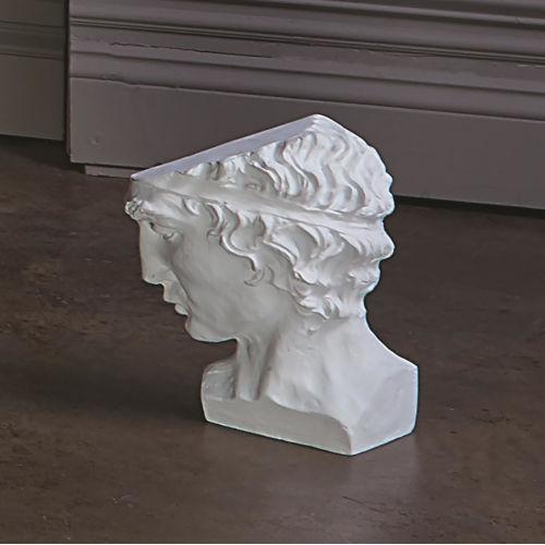 Roman Cast Aluminum Man Head Figurine