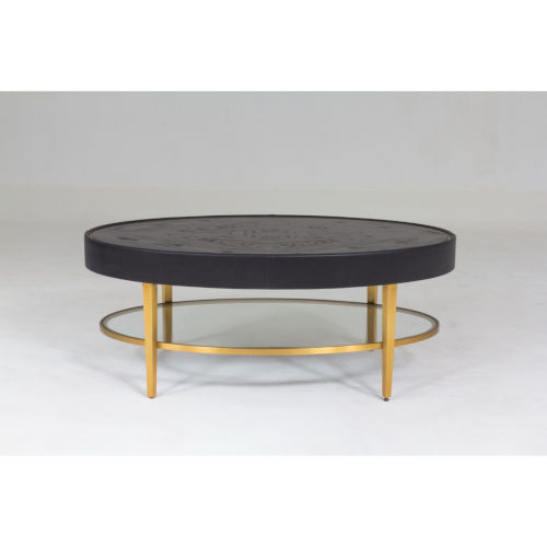 Ellipse Black and Gold Cocktail Table