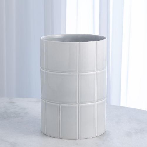 Studio A Home Seaglass Blue Medium Glassblock Vase