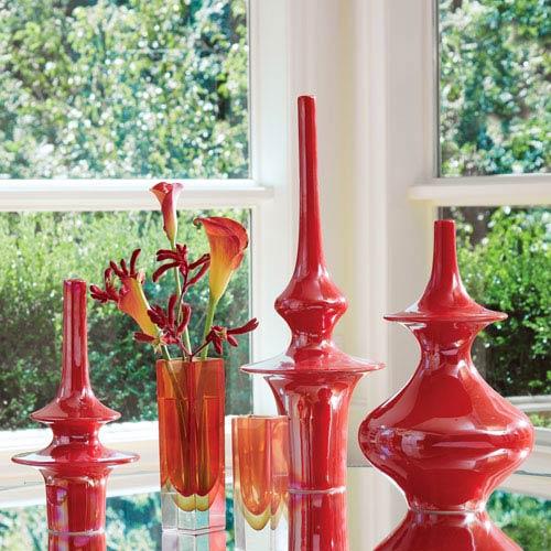 Global Views Minaret Medium Poppy Vase