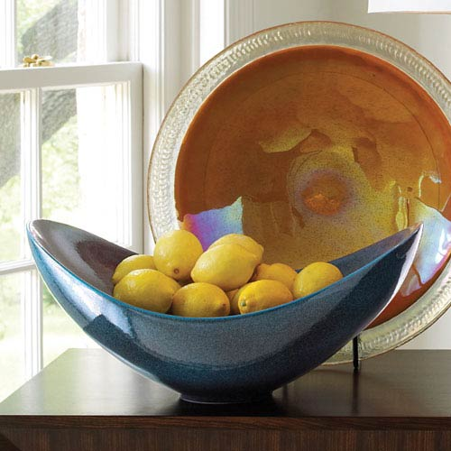 Celestial Blue Swoop Bowl