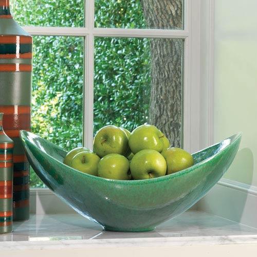 Global Views Swoop Emerald Bowl
