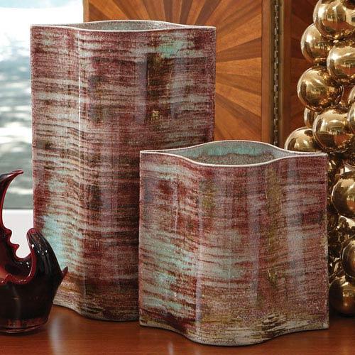 Global Views Extruded Rust Medium Vase