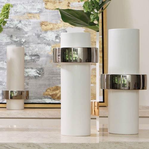 Silver Ring High Vase