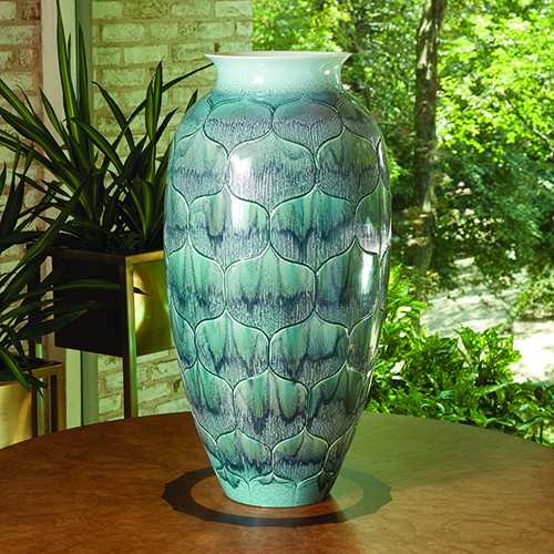 Global Views Lady Lo Teal Large Vase 110586 Bellacor