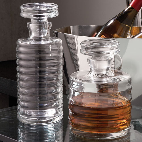Clear Ribbed Decanter