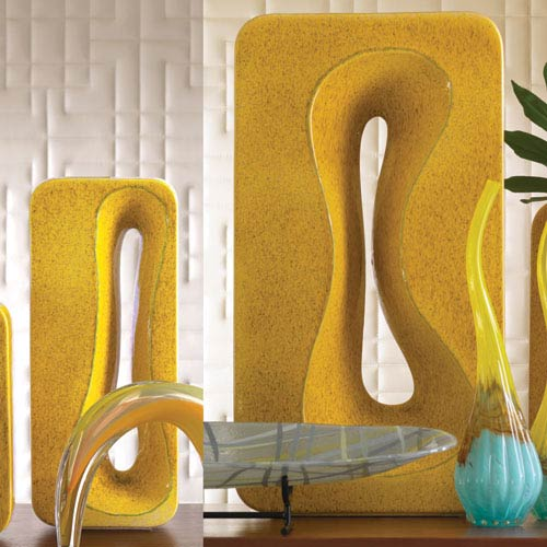 Rectangular Amoeba Yellow Large Vase
