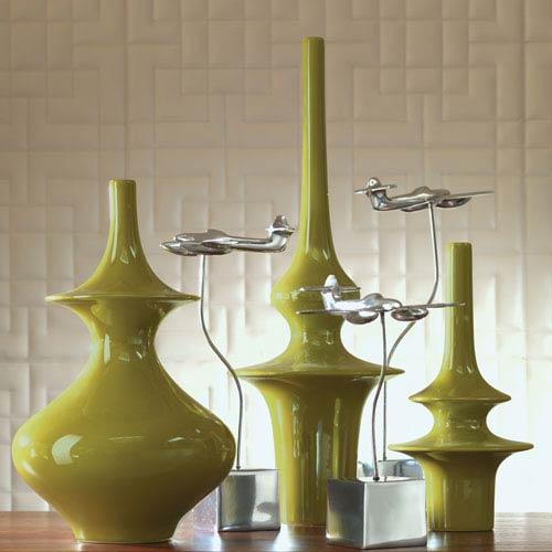Minaret Large Green Vase
