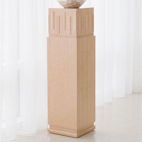 Global Views French Key Light Limed Oak Pedestal
