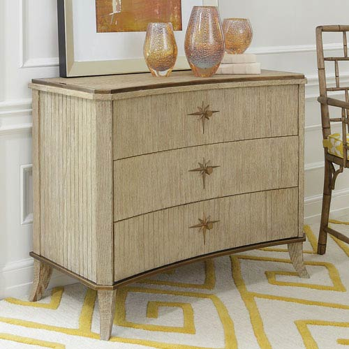 Klismos Three-Drawer Sandblasted Oak Cabinet