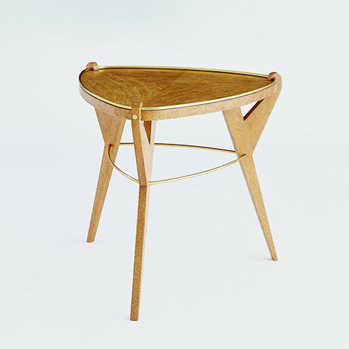 global views olive ash burl tri pod table 2624 bellacor. Black Bedroom Furniture Sets. Home Design Ideas