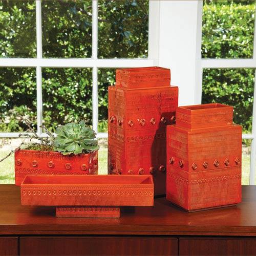 Dot Dash Medium Orange Vase