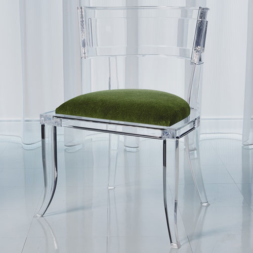 Global Views Klismos Emerald Green Acrylic Chair