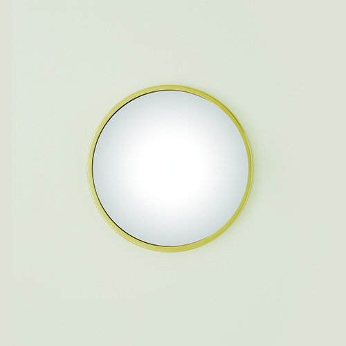 Hoop Brass Small Convex Mirror