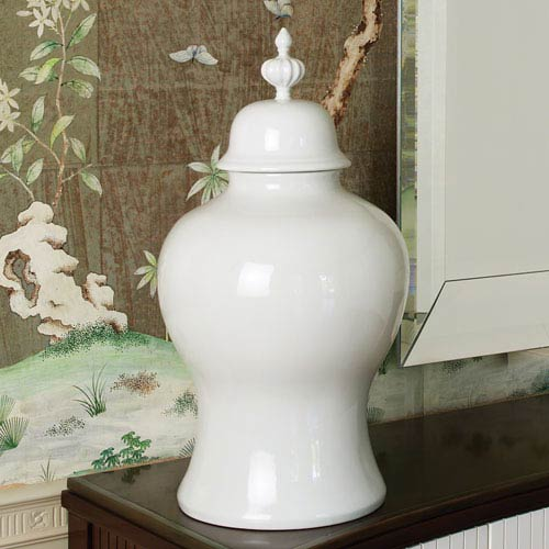 Willamsburg White Large Beaufort Ginger Jar