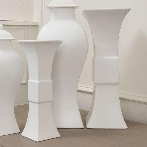 Williamsburg Matte White Small Garniture Vase Only