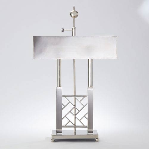 Carter Nickel Two-Light Desk Lamp