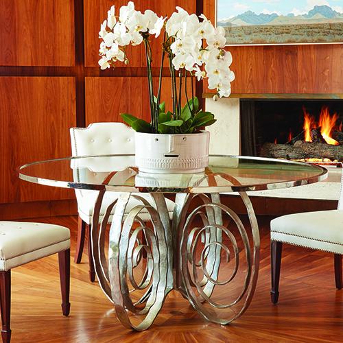 Weathervane Nickel Dining Table