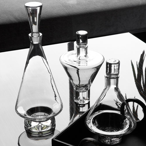 Clear Fat Bottom Decanter Only