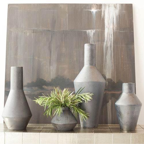 Global Views Studio A Graphite Medium Shaker Vase