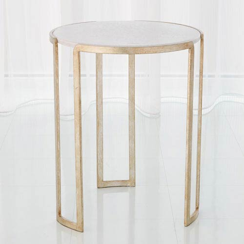 Global Views Studio A Silver Leaf Channel Accent Table