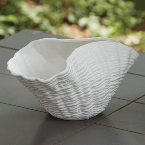 Studio A Matte White Ripple Bowl