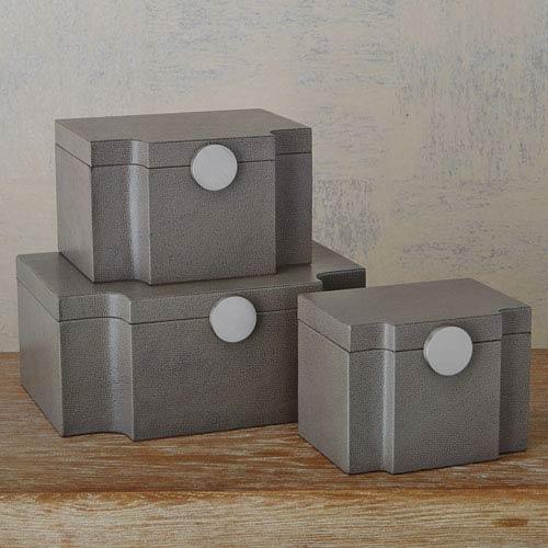 Studio A Large Serpentine Pebble Grey Box