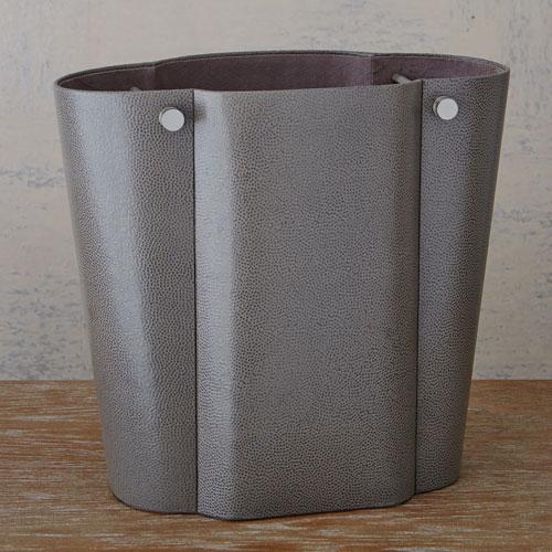 Studio A Serpentine Pebble Grey Wastebasket