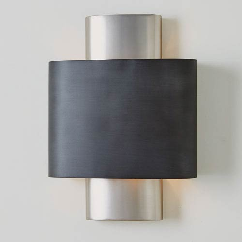 Studio A Nordic Antique Nickel Wall Hardwired Sconce