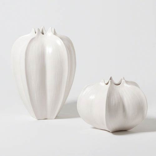 Kalalou Whitewashed Tall Oblong Wooden Vase Set Of 2 Cpp2022 Bellacor