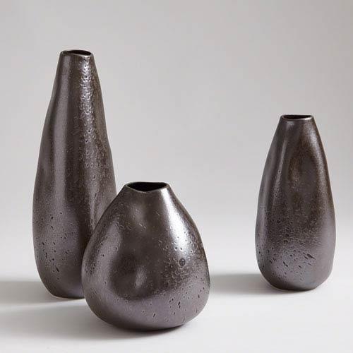 Global Views Studio A Smoosh Matte Graphite Medium Vase
