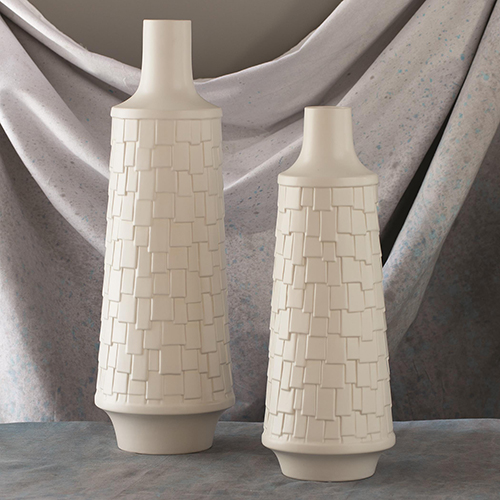 White Contemporary Vases Free Shipping Bellacor