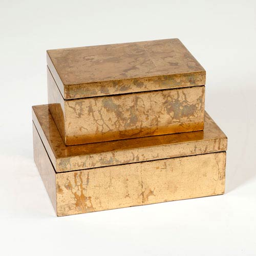 Studio A Luxe Gold Leaf Small Box