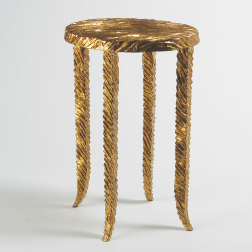 Global Views Studio A Gold Waves Martini Side Table
