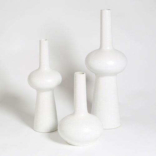 Studio A Matte White Small Lunar Vase Only