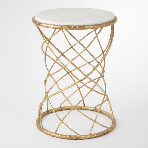 Global Views Studio A Tango Gold Leaf Accent Table