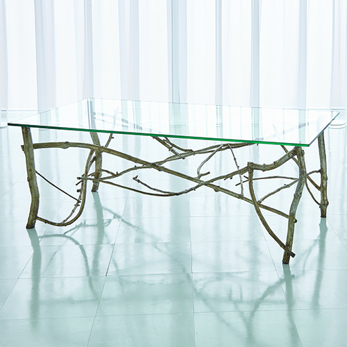 Studio A Silver Leaf Twig Cocktail Table