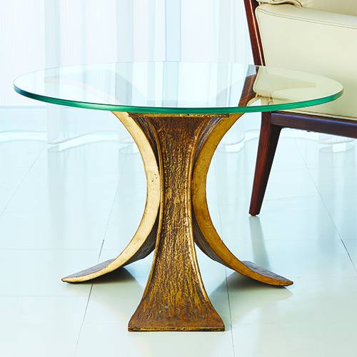 Studio A Lotus Antique Gold End Table
