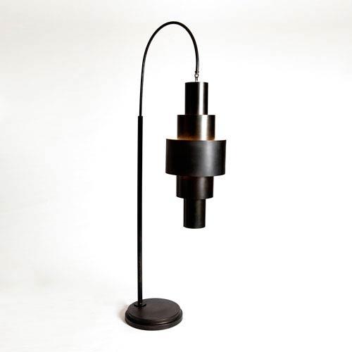 Studio A Babylon Bronze Two-Light Floor Lamp
