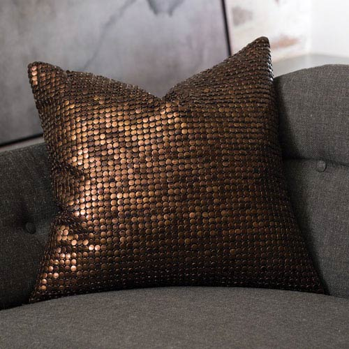 Studio A Copper Beaded Pillow