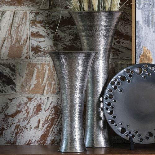Global Views Studio A Antique Nickel Small Indira Vase