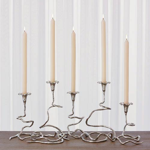Studio A Nickel Morning Glory Table Vines, Set of Five