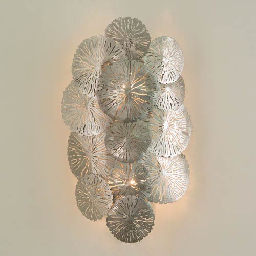 Studio A Lily Pad Antique Nickel Wall Sconce