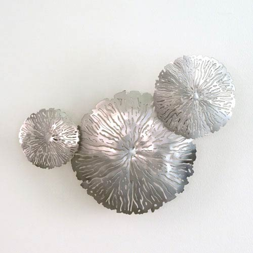 Studio A Antique Nickel Lily Pad Clusters, Set of Three